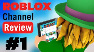 ROBLOX CHANNEL REVIEW #1 | FREE ROBUX CONTEST!