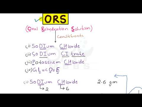 Trick for Oral Rehydration Solution (ORS) for PG Aspirants