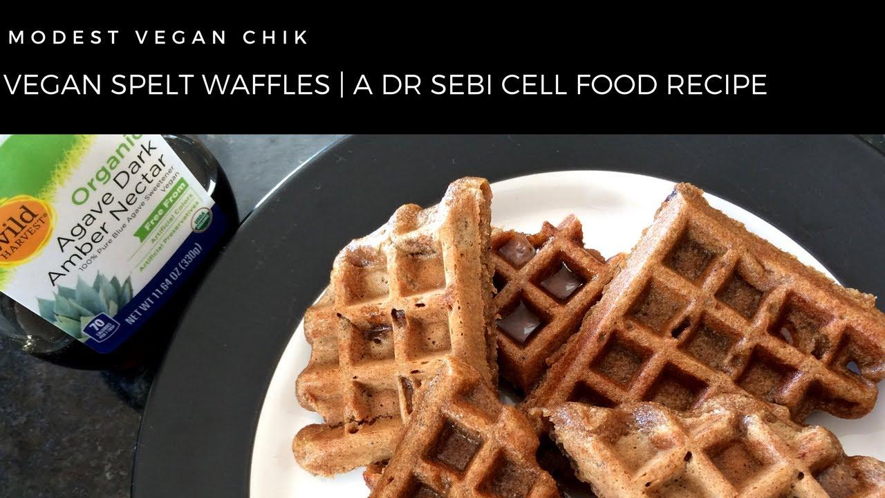 Vegan Spelt Waffles | A Dr Sebi Cell Food Recipe | Alkaline Breakfast