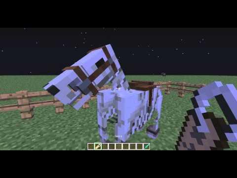 Как призвать лошадь скелет в майнкрафт