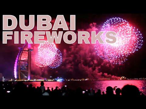DUBAI FIREWORKS | HAPPY NEW YEAR DUBAI | JUMEIRAH BEACH