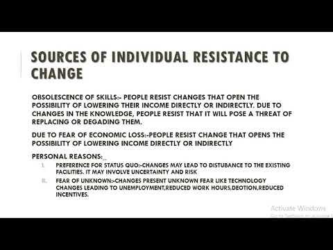 MANAGEMENT OF RESISTANCE