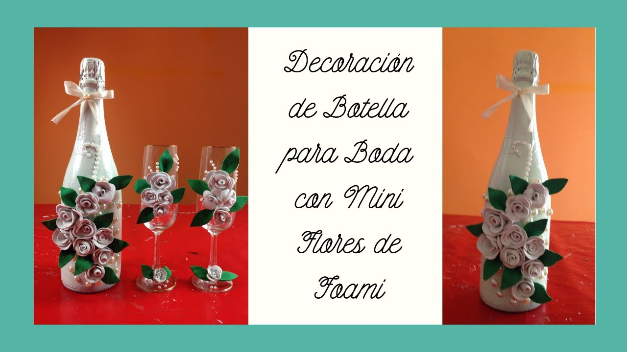 Decoraci n botella para bodas simple bottle decoration for - Decoraciones de bodas ...