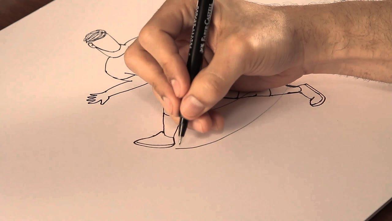 Cómo mostrar movimiento en los dibujos : Tips de dibujo - YouTube