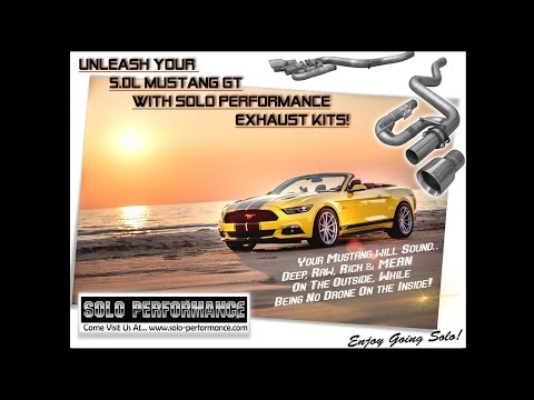 FORD 5.0L MUSTANG GT (2015-PRESENT) SOLO PERFORMANCE STREET RACE CATBACK 3