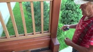 видео Балясины для террасы, веранды и балкона из дерева