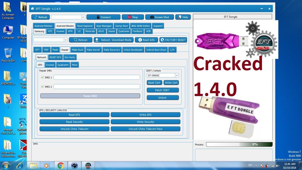 EFT Dongle V1 4 0 Crack||Without Dongle[  MTK,Spd,Qualcomm,Samsung,HTC,Huawei,MI etc