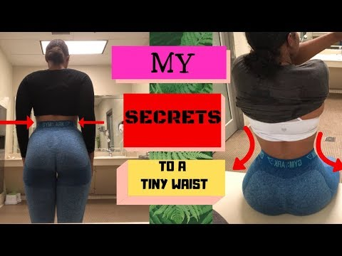 HOW I GOT MY TINY WAIST+ TIPS AND TRICKS Pt2 | WORKOUT INCLUDED