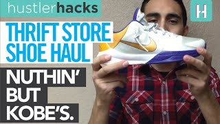 Thrift Store Nike Kobe V (5) & VIII (8) Haul! 3 Pairs for $10 each! Nuthin
