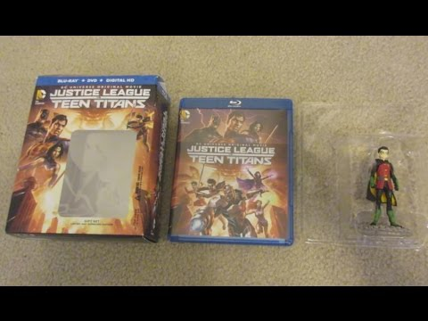 Download Justice League VS Teen Titans Blu-Ray Limited Edition Gift Set Unboxing Review W/Menu Screen