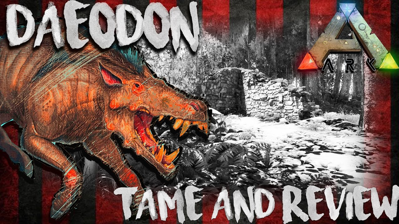 Ark The Center Daeodon Location Taming Review Update 257 Youtube Note that after the creature is tamed it gets bonuses on some stats depending on the taming effectiveness. ark the center daeodon location taming review update 257