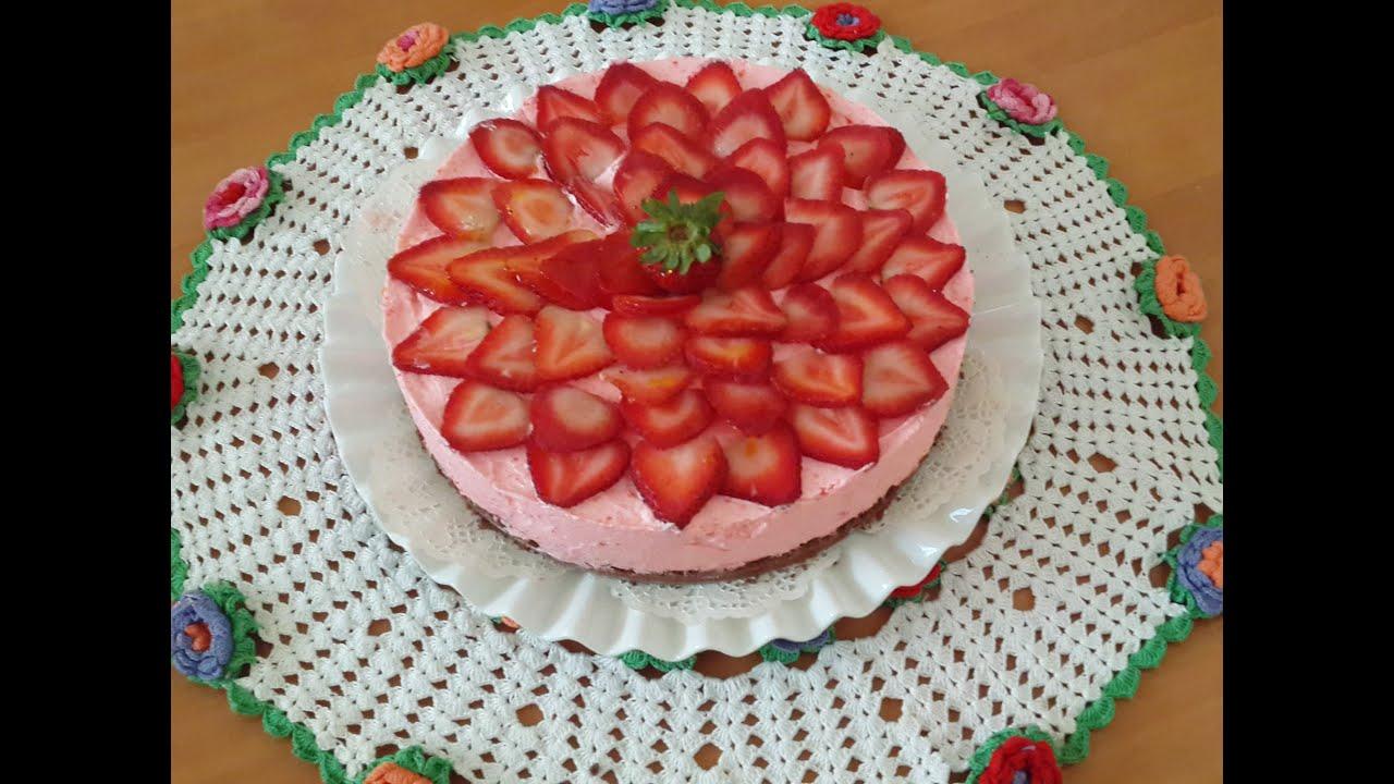 cheesecake sans cuisson aux fraises no bake strawberry. Black Bedroom Furniture Sets. Home Design Ideas