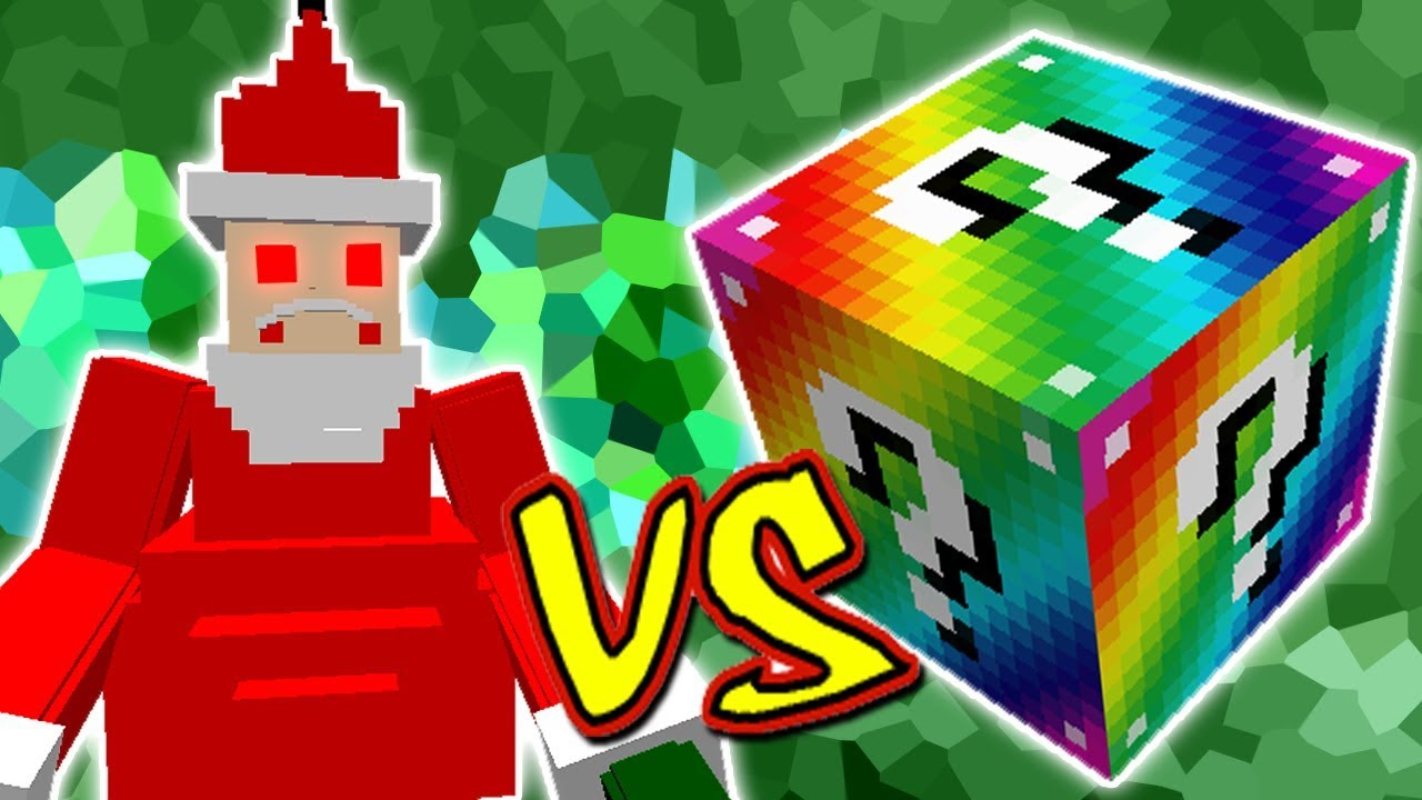 Papai Noel Malvado Vs Lucky Block Rainbow Minecraft Lucky Block