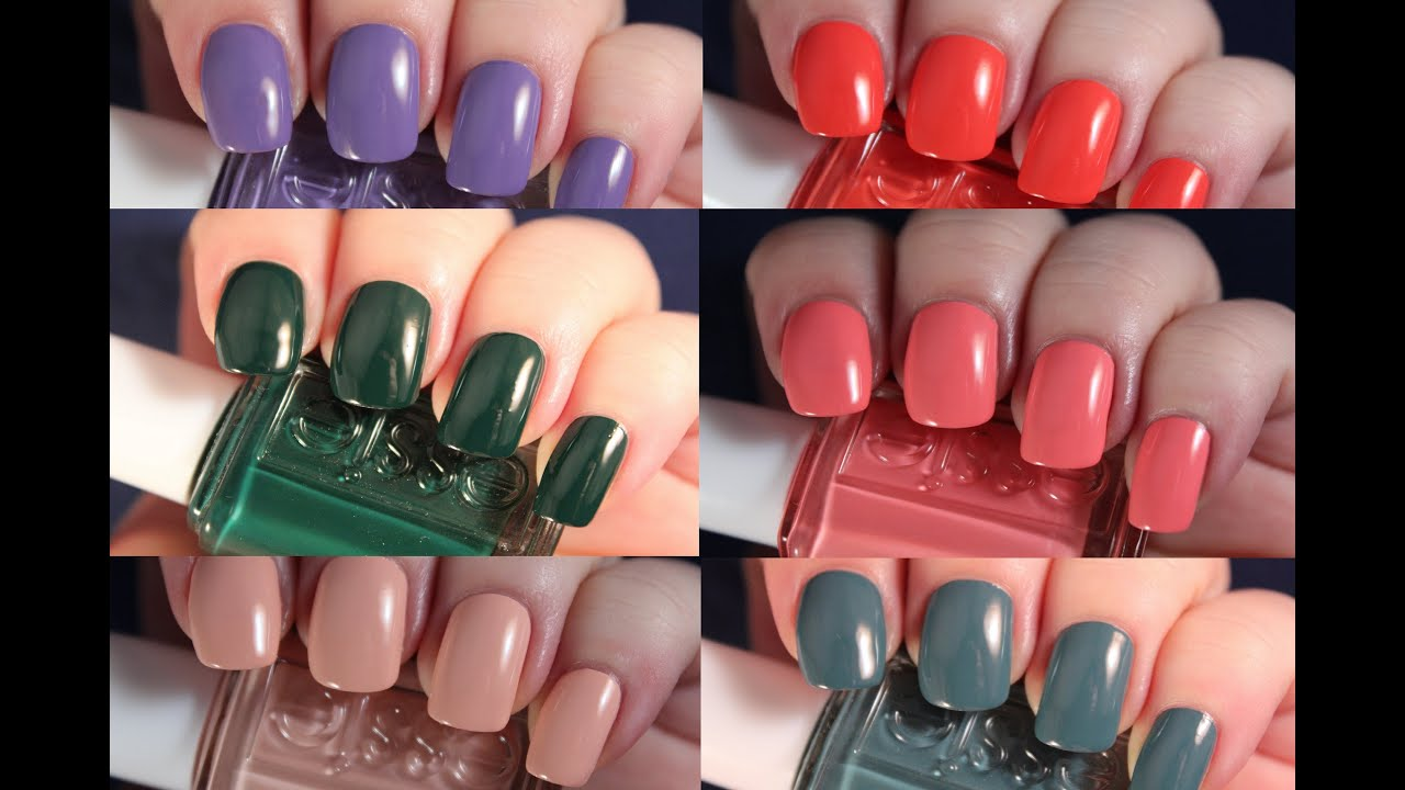Essie Spring 2016 | Live Application Review - YouTube