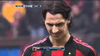 Video Ibrahimovic RED CARD Punches Marco Rossi   Ac Milan 1 1 Bari 13 03 2011 download MP3, 3GP, MP4, WEBM, AVI, FLV Oktober 2018
