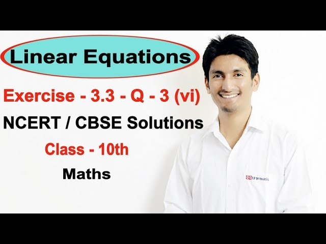 Chapter 3 Exercise 3.3 Q 3 - Pair of Linear Equations in two variables class 10 maths (NCERT)