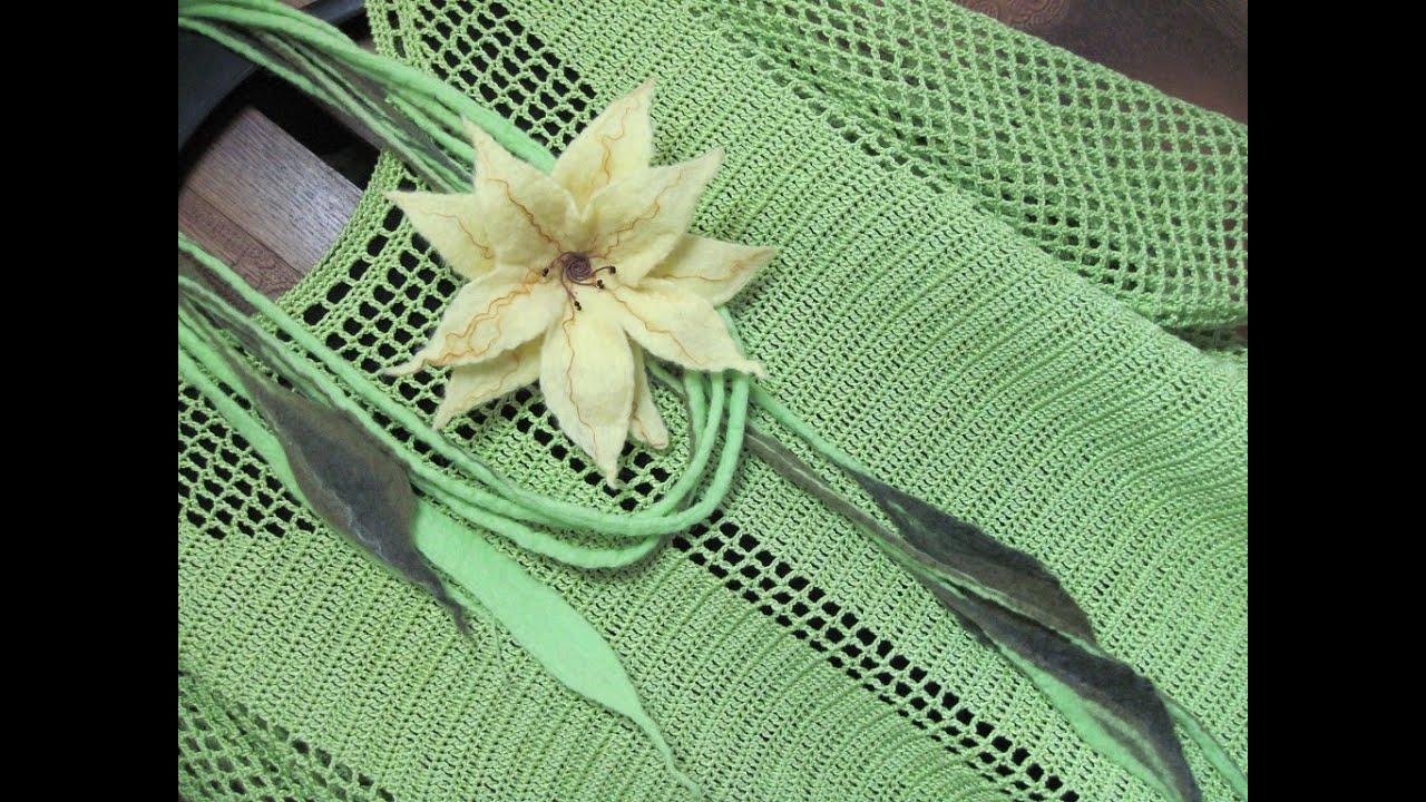 филейное вязание Filet Crochet Blouse Youtube