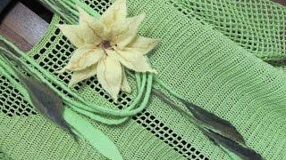 Филейное вязание. Filet Crochet blouse