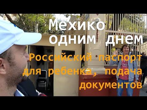 Российский паспорт для ребенка в Мехико, подаем документы и исследуем город за один день