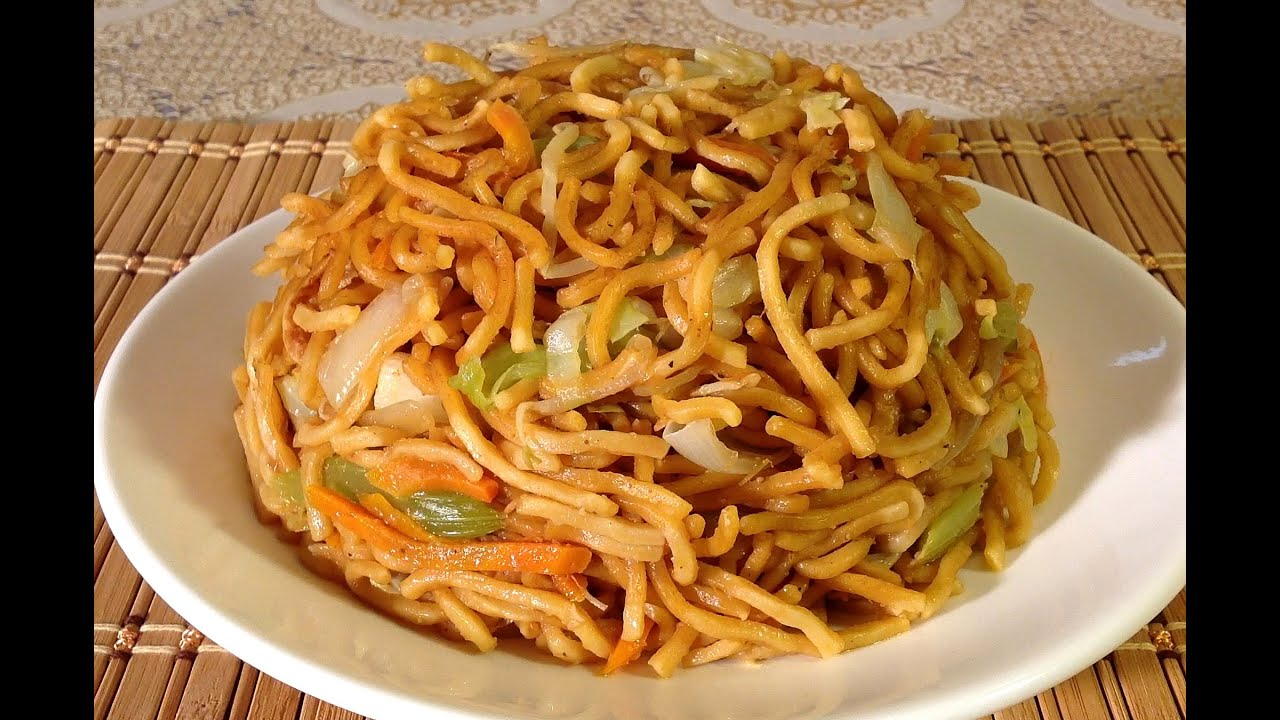How To Make Vegetable Lo Mein Chinese Food Recipes Restaurant Style