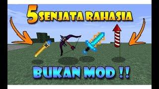 5 Senjata Rahasia Yang Belum Kalian Ketahui di Minecraft !! (BUKAN MOD)