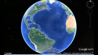 Trinidad and Tobago Google Earth View