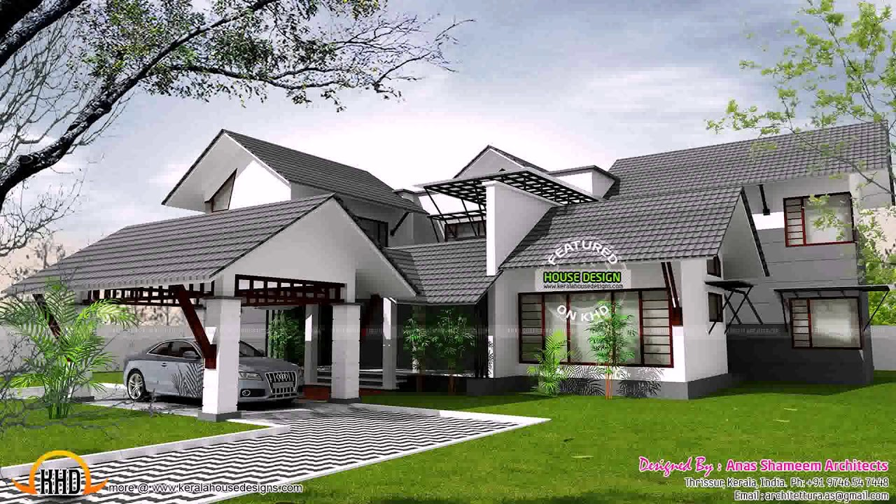 Kerala  Style  Home  Plans  With Interior Courtyard see