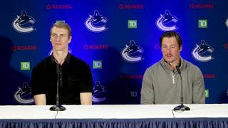 Canucks: Tyler Myers and J.T. Miller speak to reporters ahead of day 1 training camp | The Province