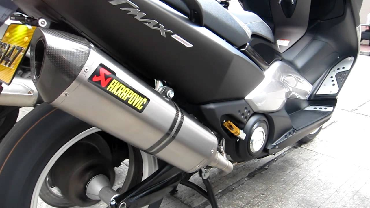 akrapovic t max 08 11 full system by youtube. Black Bedroom Furniture Sets. Home Design Ideas