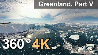 360°, Icebergs of Greenland. Part V. 4К aerial video