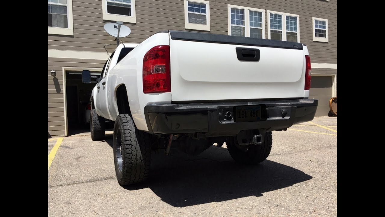 Vinyl Wrapping the OEM Duramax Rear Bumper! - YouTube