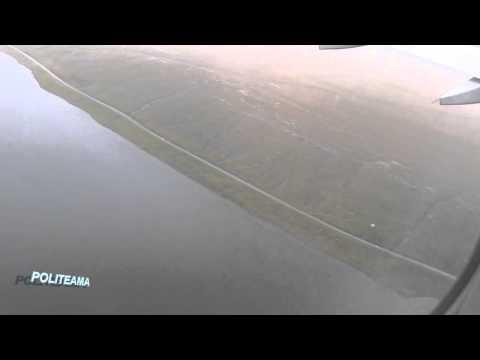 Faroe Islands from Atlantic Airways Plane - Takeoff Vagar Airport