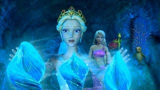Barbie in A Mermaid Tale - Queen Calissa is released and cures the ocean with her Merillia