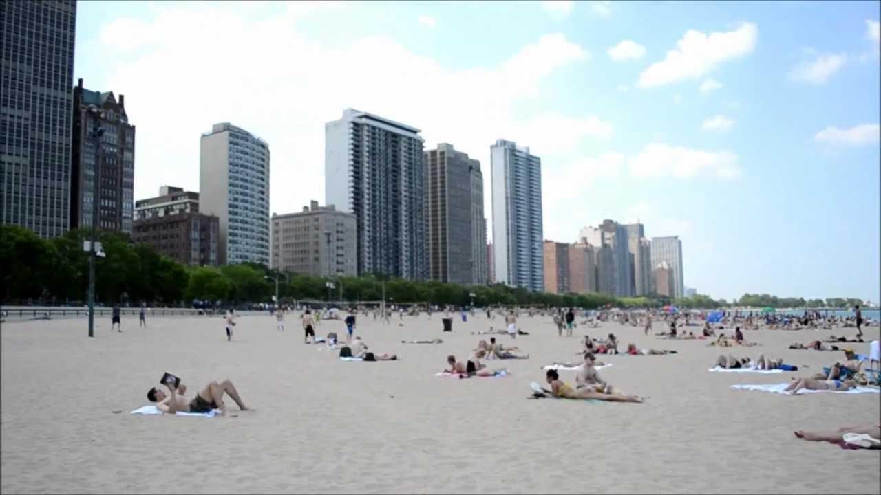 Lake Front Beach In Chicago Il Michigan