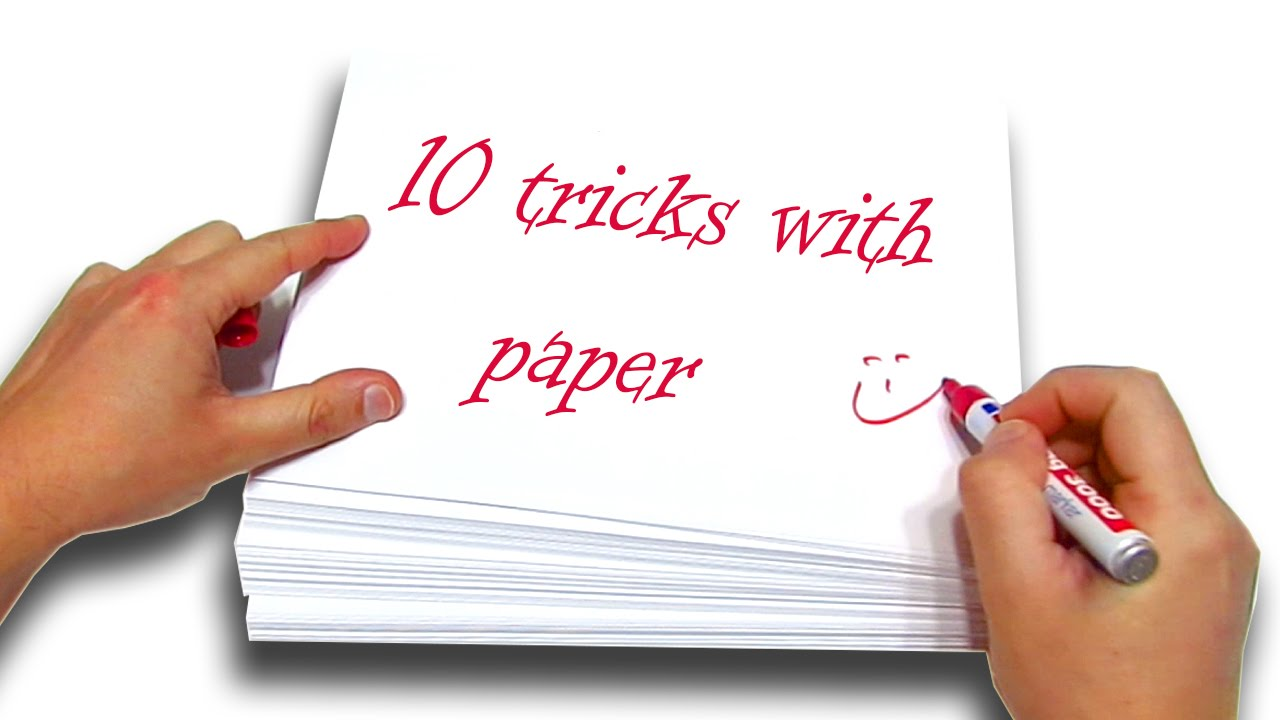 Help with a paper magic tricks easy