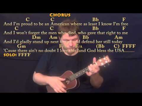 God Bless the USA - Ukulele Cover Lesson with Chords/Lyrics