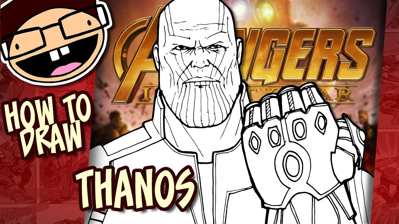 How To Draw Thanos Avengers Infinity War Narrated
