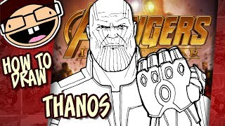 How to Draw THANOS (Avengers: Infinity War) | Narrated Easy Step-by-Step Tutorial