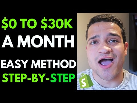 0 to $30K A Month in 3 Months | Step by Step Shopify Dropshipping Tutorial 2019 thumbnail