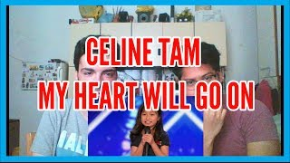 Celine Tam Stuns Crowd with My Heart Will Go On - America's Got Talent 2017 REACTION