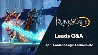 Leads Q&A | RuneScape Weekly Stream (April 2021)