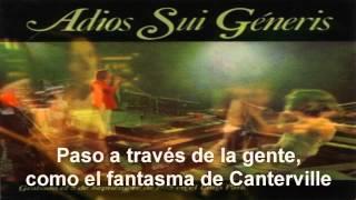 Adios Sui Generis - El Fantasma de Canterville (Letra)