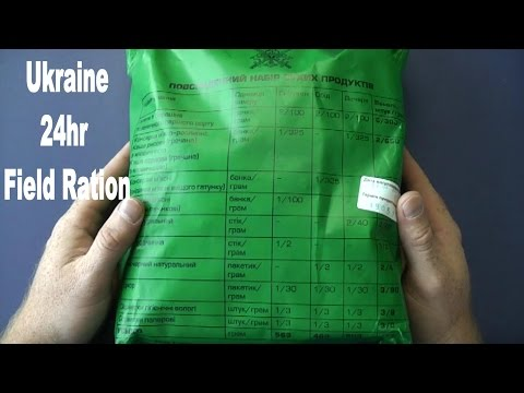 MRE Review - Ukraine 24hr Military Field Ration - 2014