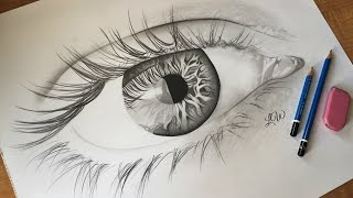 drawing simple eye graphite draw pencil 2g