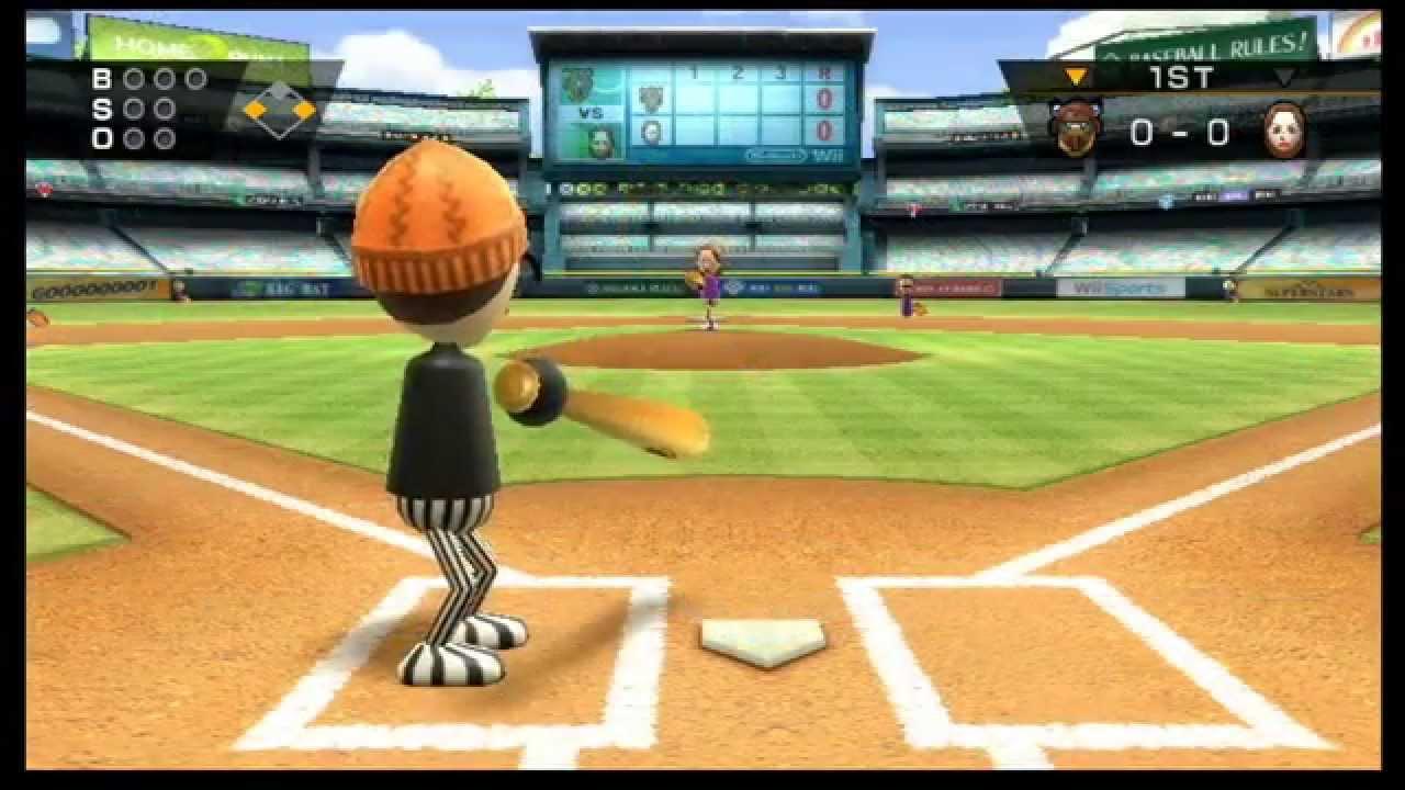 Wii Sports Baseball Skill Level Comparison YouTube