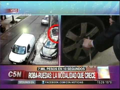 C5N - POLICIALES: ROBA-RUEDAS, MODALIDAD QUE CRECE (PARTE 1)