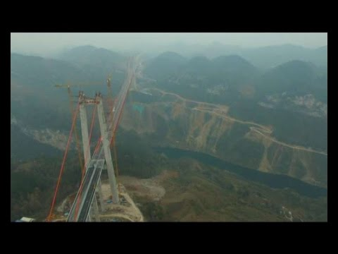 World's second highest suspension bridge opens to traffic in China
