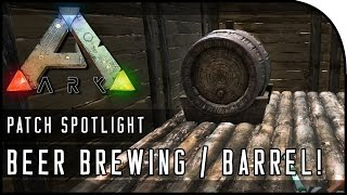 ARK: Survival Evolved HOW TO BREW BEER GAMEPLAY! (BEER BARREL, DRUNK, HANGOVER!)