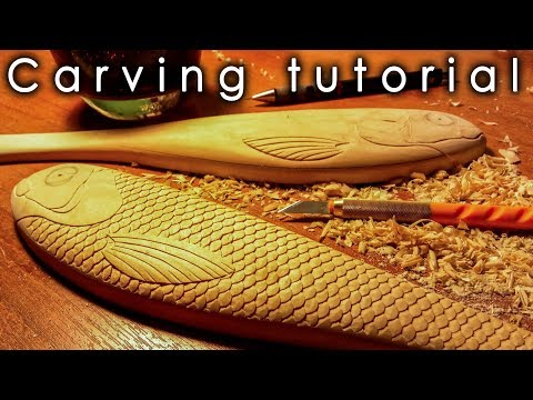 How To Carve Scales. Detailed Carving Tutorial.