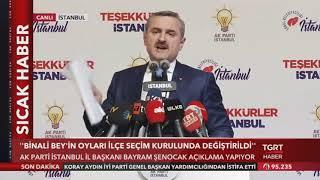 AK Parti İstanbul İl Şenocak'tan Seçim Sonuçlarına İtiraz Açıklaması